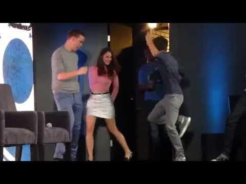 The Maze Runner cast dance - YouTube
