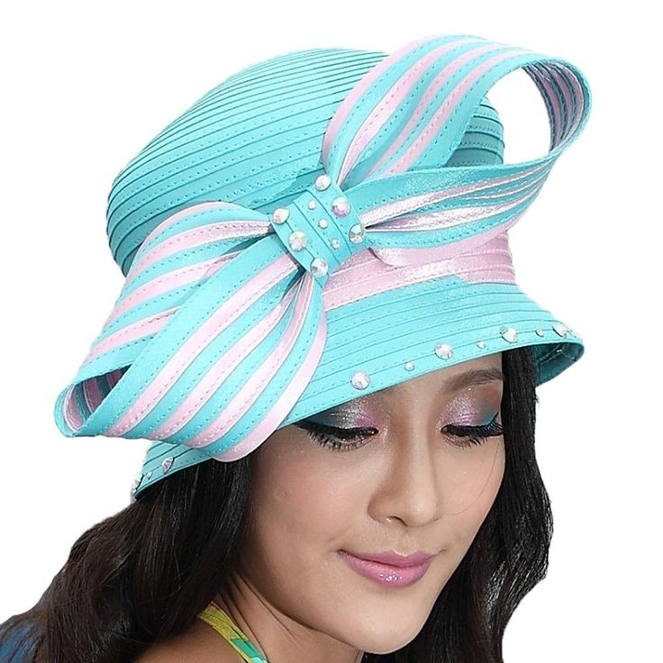 Elegant Woman's Church Hat Church Suits Matching Couture Hats Bow – Light pink w… – chapéus