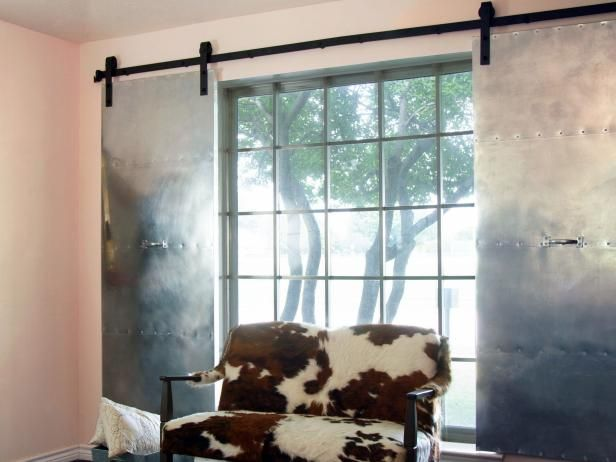 How To Make Industrial Style Rolling Shutters Industrial Window Treatments Interior Window Shutters Industrial Style