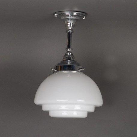 108,50 |  Badkamer hanglamp vlak getrapte Gispen met verchroomd badkamerarmatuur