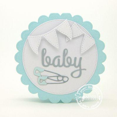 Using SugarPea Designs new release - SugarCuts Baby Diaper Pin die set #sugarpeadesigns #spd