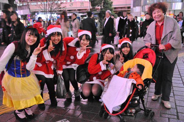 渋谷のサンタのコスプレ写真22