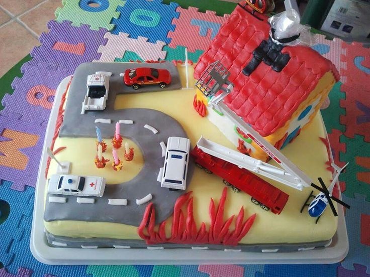 firefighter cake