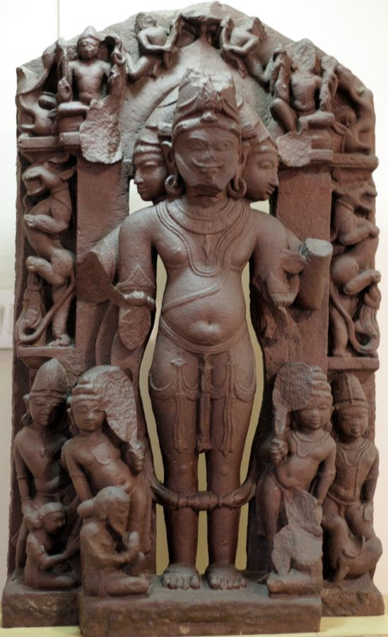 An ancient relic of Brahma dating back to the 9th century AD found in Jaliha, Satna district in Madhya Pradesh, now in their State Museum.