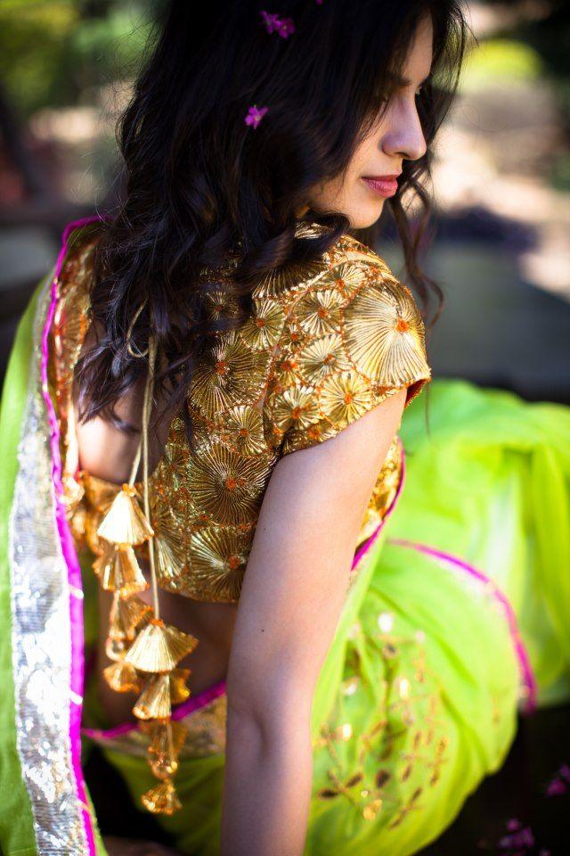Ayinat by Taniya O' Connor  insanely pretty - gota chattri blouse
