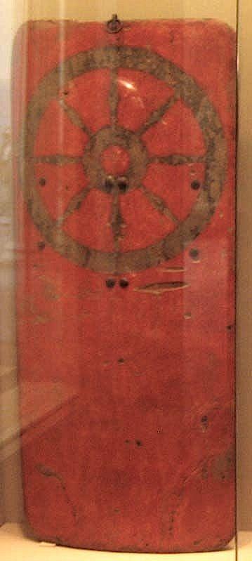 Big pavise from the City of Erfurt at Metropolitan Museum of Art. Ca. 1385-1387
