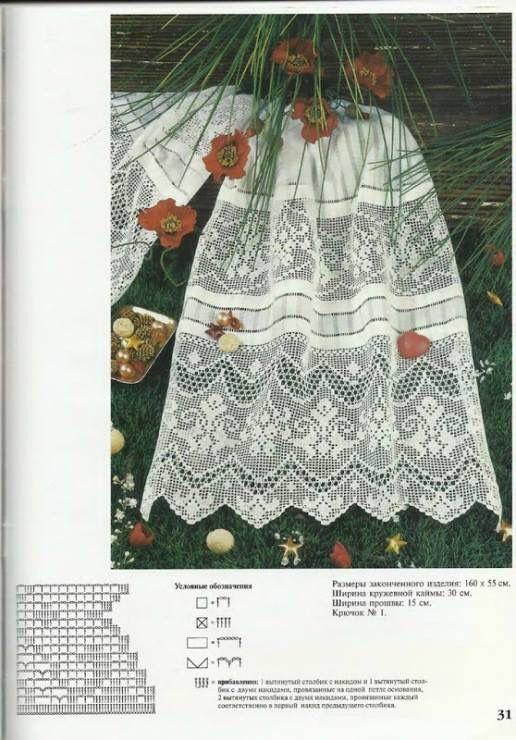 Schöner Vorhang, Mix aus Stoff und Häkelspitze, gesehen auf fb, Hersteller und Fotograf mir nicht bekannt