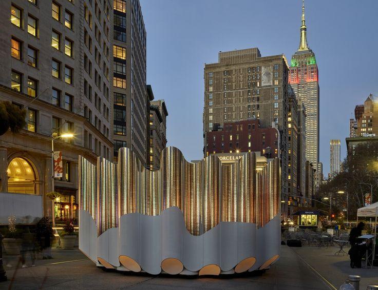 Future Expansion's 'Flatiron Reflection' Transforms Flatiron Public Plaza for the Holiday Season