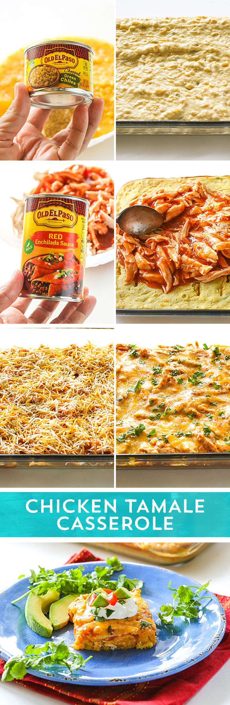 Need a simple dinner idea that your family is sure to love? Try this Chicken Tamale Casserole from @girlwhoate! It is all the classic flavors of tamales that you love - without any of the fussy wrapping and steaming! This dish packs just enough spice to keep it exciting, but is mild enough for the whole family! Ready in 45 minutes!