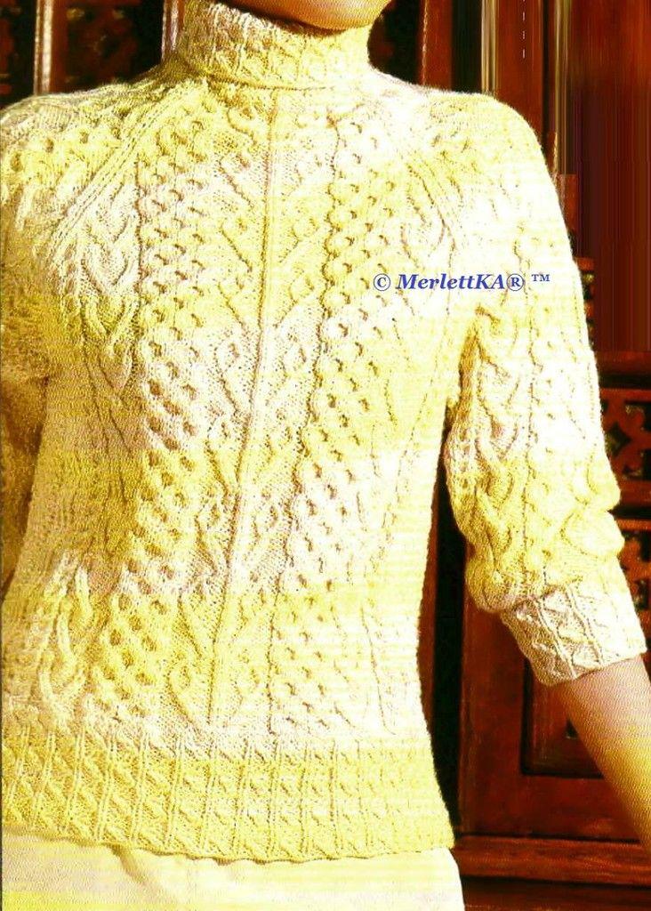 Два фактурных пуловера в технике ирландского вязания. Обсуждение на LiveInternet - Российский Сервис Онлайн-Дневников