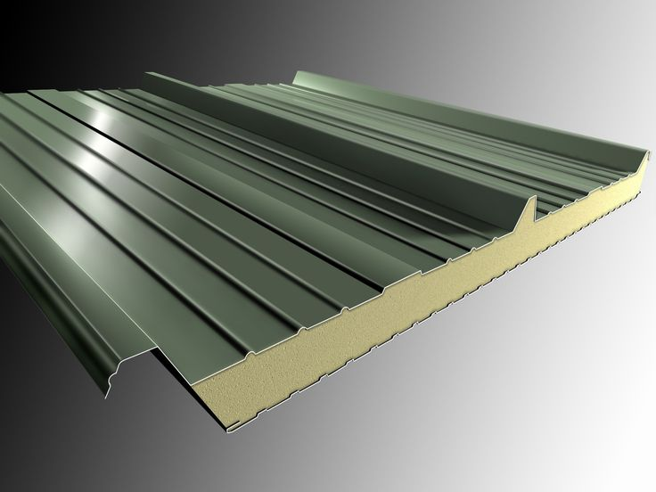 Insulated Aluminum Elite Roof Panels | Insulated metal panel for roof DELTA 3 - Isolpack
