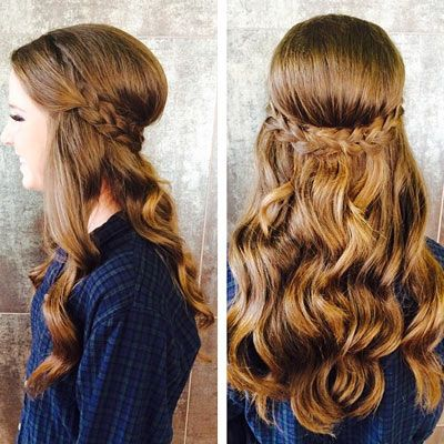 What are the prom trends 2015? Well, half up hairstyles for one. Check out these pictures for 8 unique looks with curls, braids, the faux undercut and more.