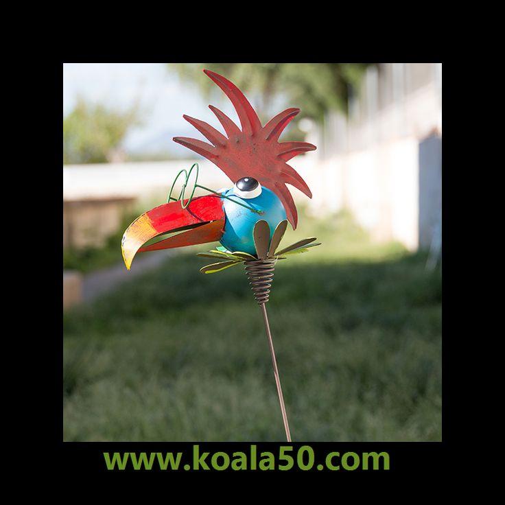 Pájaro Metálico Decorativo para Jardines - 6,43 €  ¡Dale un toque original y divertido a la decoración de tu jardín con elpájaro metálico decorativo para jardines! Todos quedarán fascinados con sus alegres y vivos colores, además de su...  http://www.koala50.com/iluminacion-decoracion-de-exterior/pajaro-metalico-decorativo-para-jardines