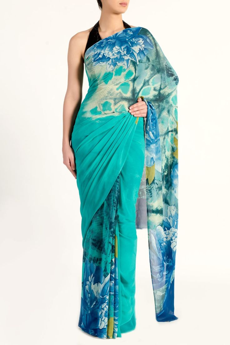 Colour Blend Floral Saree - What's New
