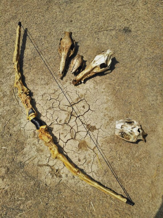 Inspired in dragon bone dismountable bow for LARP COSPLAY