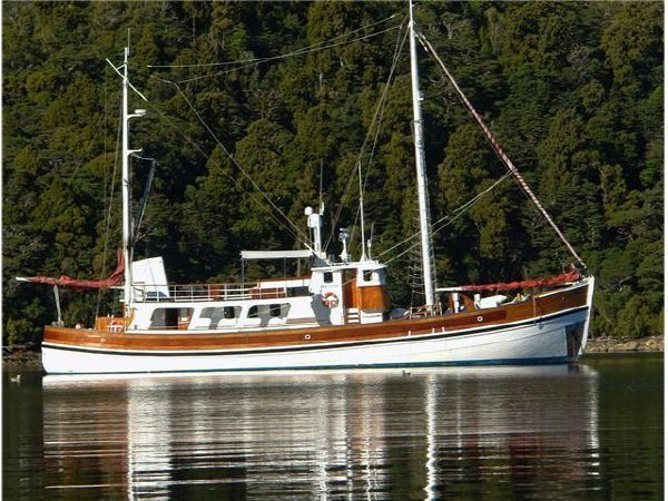 17 best images about trawlers motorsailers on pinterest for Vintage motor yachts for sale