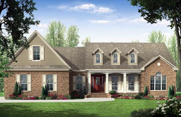 Country Traditional House Plan 59114
