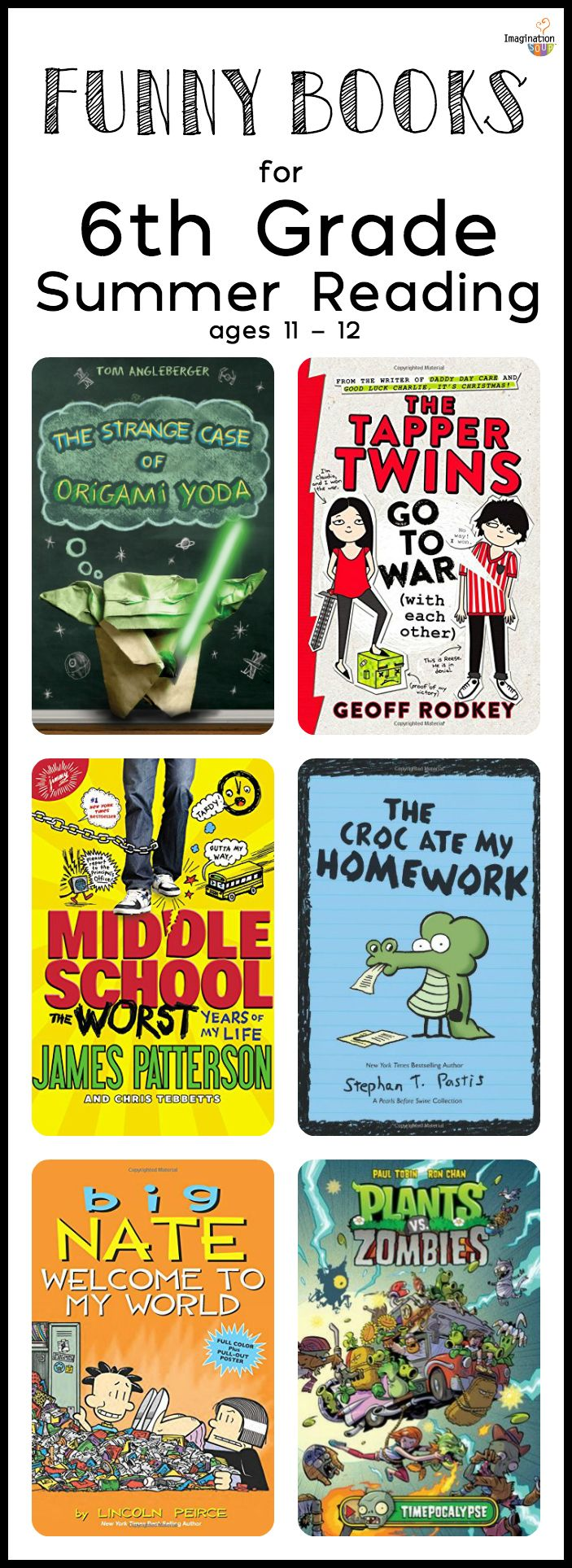 6th Grade Summer Reading List (ages 11 - 12) | Imagination Soup