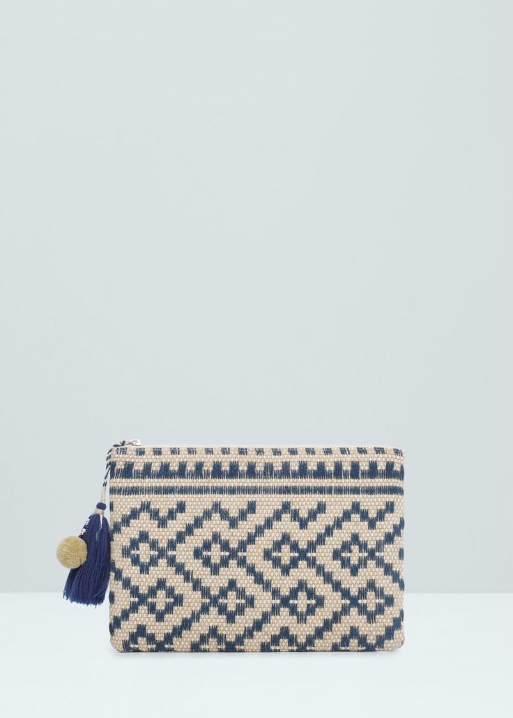 30 Jute jacquard clutch - Bags for Women | MANGO USA