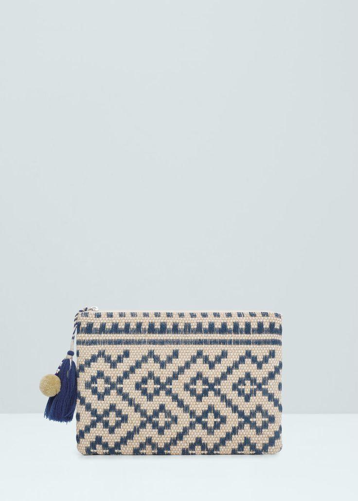 30 Jute jacquard clutch - Bags for Women | MANGO USA