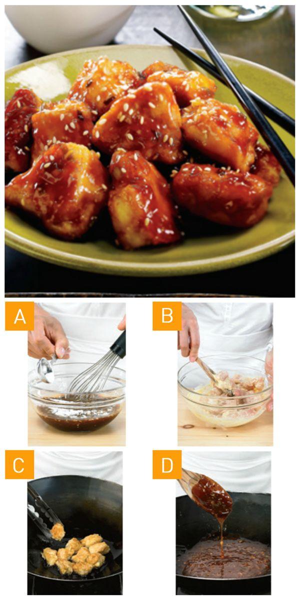 Qui a dit que du poulet Général Tao était compliqué à réaliser? Voici une #recette en 4 étapes simples! #GeneralTao