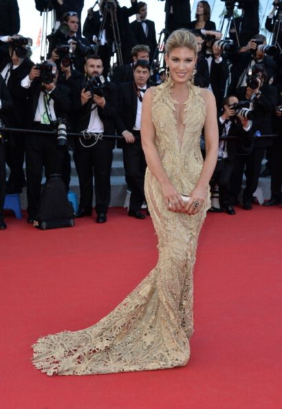Hofit Golan in Gaurav Gupta golden gown at 67th Annual Cannes Film Festival beauty and fashion freaks