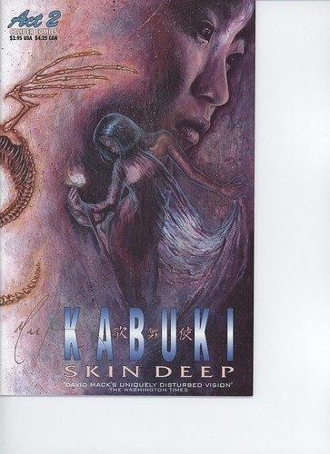 $4.99 1997 Kabuki Skin Deep Act 2 Alternate Caliber Comics Signed David Mack VFNM | eBay