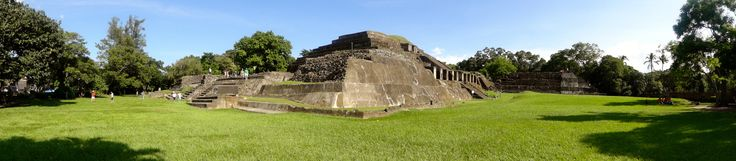 Panoramic I took at the Tazumal Mayan Ruins, Chalchuapa, El Salvador. #elsalvador #tazumal #mayanruins