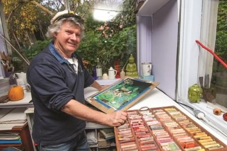 Mervyn Hannan grew up at Montsalvat surrounded by artists; and has always worked with his hands making sculpture, painting in pastel, framing pictures and playing drums.  He has travelled extensively across Australia and lived overseas for many years.