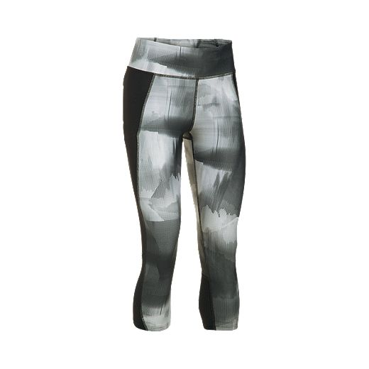 Under Armour Women's Run Fly By Blurred Camo All Over Print Tights - BLACK/REFLECTIVE