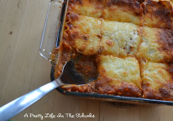 What's For Dinner? Lasagna! - A Pretty Life In The Suburbs