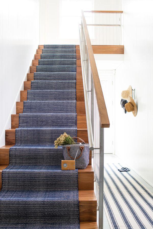 A customer favorite Dash & Albert lightweight woven cotton area rug in a classic Indigo blue herringbone pattern will perk up your floors.