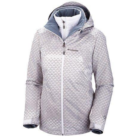 Columbia Sportswear Whirlibird Interchange Jacket - 3-in-1 (For Women) in White Geo Ombre Print