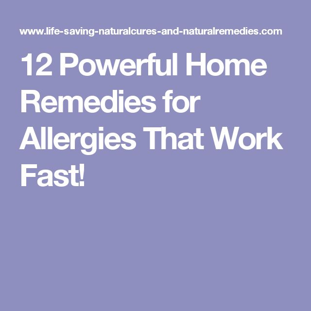12 Powerful Home Remedies for Allergies That Work Fast!