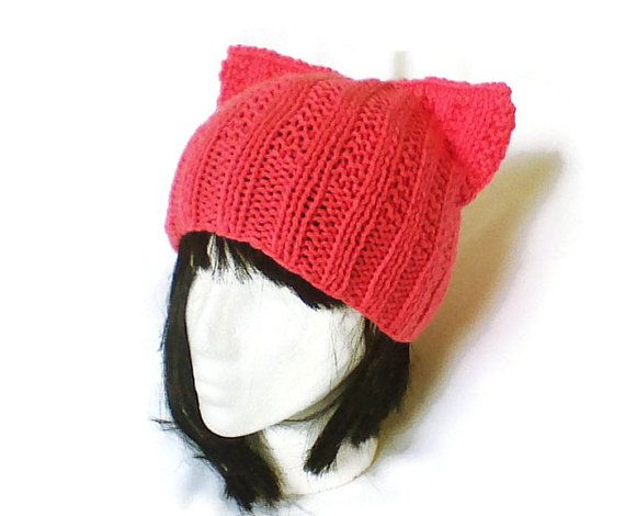 Hey, I found this really awesome Etsy listing at https://www.etsy.com/listing/234056138/pink-cat-hat-cat-ear-beanie-cat-ear-hat