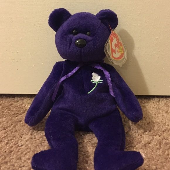 Original Princess Diana beanie baby with tag Original Princess Diana beanie baby with tag, tag case and original PE pellets. No stains or tears. I actually have 2 of them, one with a tag and one without. Willing to bargain Ty Other