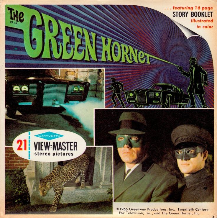 THE GREEN HORNET View-Master 1966 With Van Williams as The Green Hornet, & Bruce Lee as Kato (minkshmink)