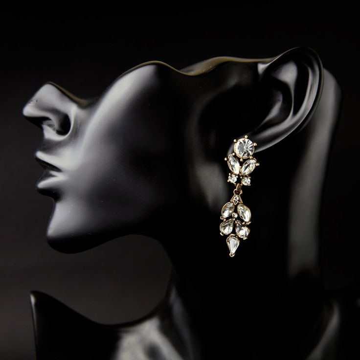 Summer New Inlay Crystal Flowers Gold Plated Earrings Vintage Jewelry Earrings for Women – servjewelry.com