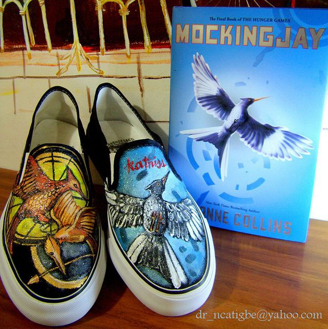 I want some of these, gosh.: Catch Fire, The Hunger Games, Gifts Cards, Vans, Games Shoes, Hunger Games Trilogy, Hunger Games Series, Hungergam, Paintings Shoes