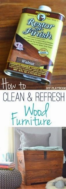 Best DIY Projects: No staining, sanding, or painting necessary with this easy trick! Here's the easy way to refresh your tired wood furniture.