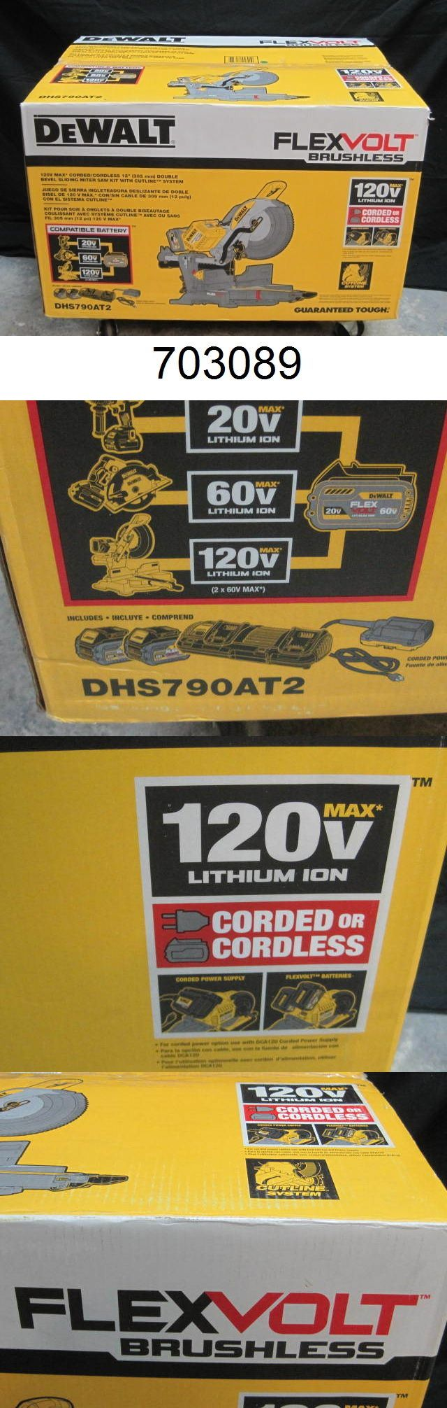 Miter and Chop Saws 20787: Dewalt Dhs790at2 Flexvolt 120V Max Double Bevel Compound Sliding Miter Saw -> BUY IT NOW ONLY: $649.99 on eBay!