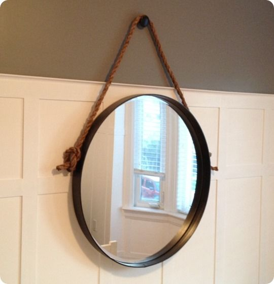 Restoration Hardware knock off metal and rope mirror