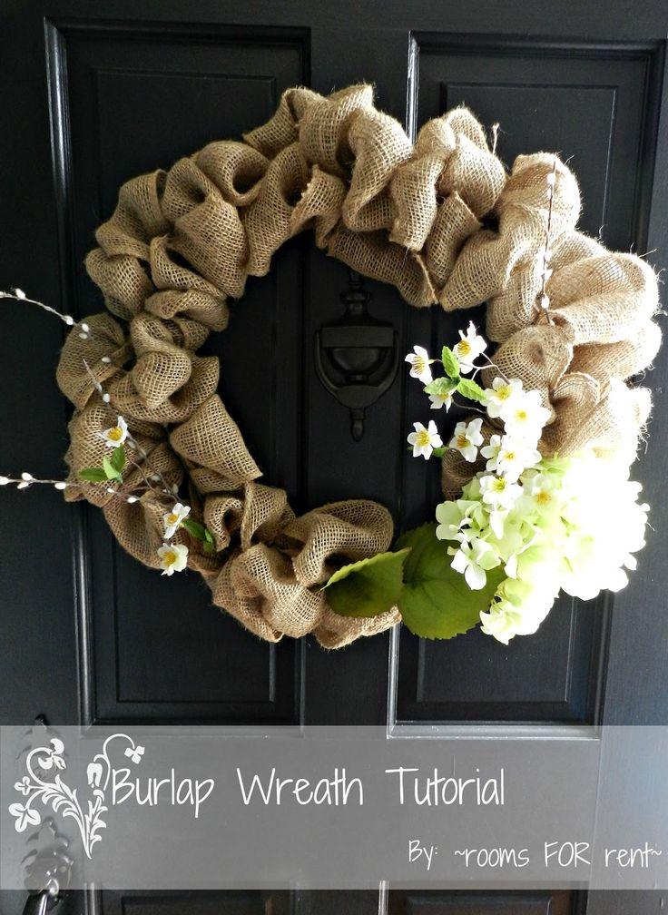 ~rooms FOR rent~: {Spring Burlap Wreath}