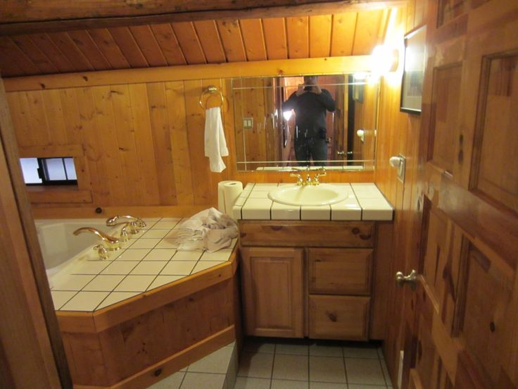 648 best images about home decorating ideas on pinterest for Log cabin bathroom design ideas