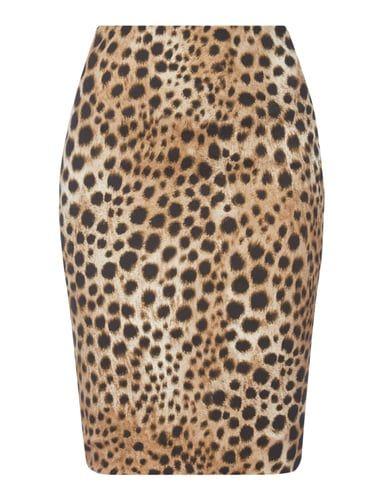 Rock mit Leopardenmuster Grau / Schwarz - 1