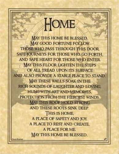 HOUSE BLESSING Parchment Page for Book of Shadows or Poster!