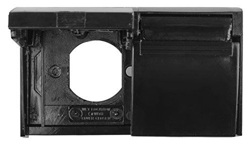 JR Products 05-12115 Duplex Outlet Cover (Black),1 Pack  Used to cover a standard two outlet electrical unit  Spring loaded hinges  Includes a weatherproof gasket  Instructions included