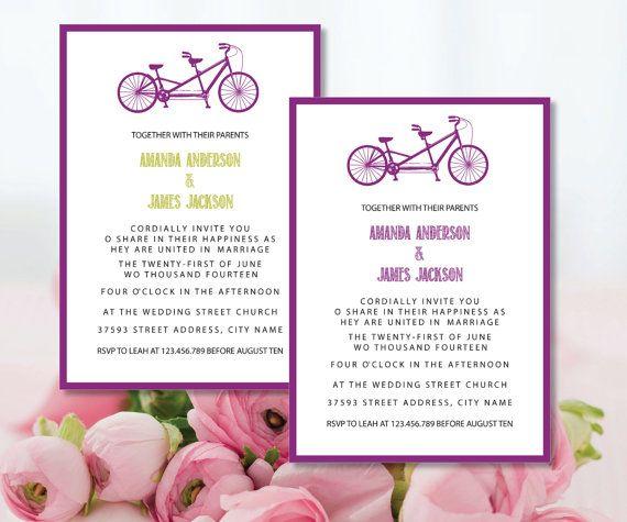 Tandem Bike Wedding Invitations: Best 25+ Tandem Bicycle Ideas On Pinterest