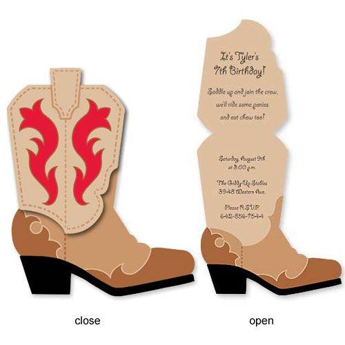 Cowboy Boot Birthday Invitations | www.babycachet.com/Cowboy… | Flickr