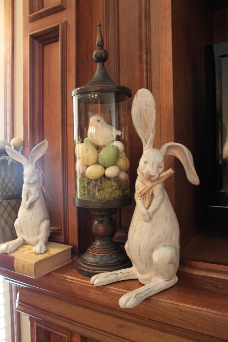 Easter decor - love this, so simple..love bunnies